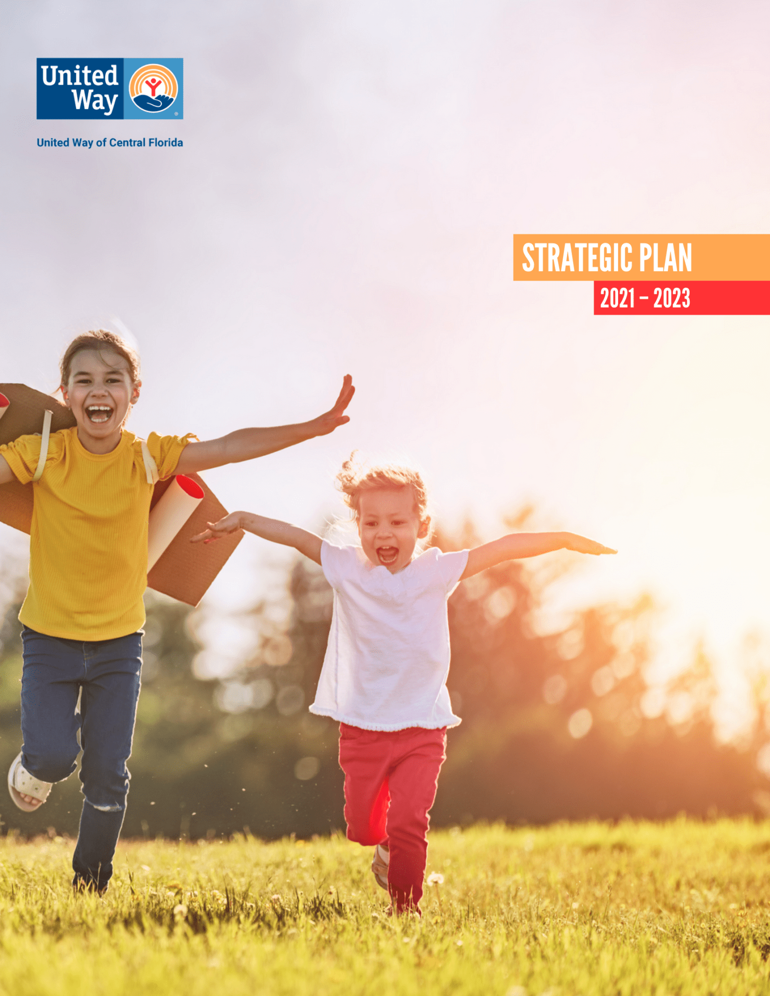 Photo of the cover of United Way of Central Florida's 2021 Strategic Plan